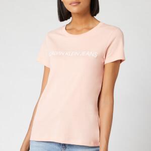 Calvin Klein Jeans Women's Institutional Logo Slim Fit T-Shirt - Blossom