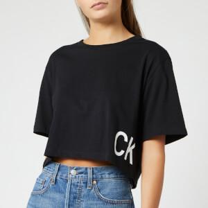 Calvin Klein Jeans Women's Boyfriend Cropped T-Shirt - CK Black