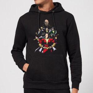 Shazam Team Up Hoodie - Black