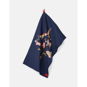 Joules Christmas Print Tea Towel