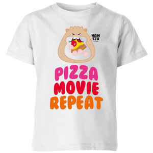 Hamsta Pizza Movie Repeat Kids' T-Shirt - White