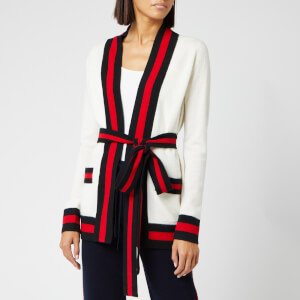 Madeleine Thompson Women's Tibbs Knit Cardigan - Cream/Red/Black
