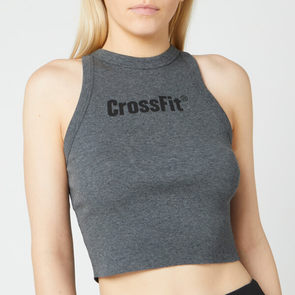 Reebok Women's CrossFit Authentic Crop Top - Grey