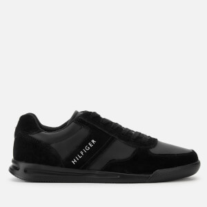 Tommy Hilfiger Men's Lightweight Mix Detail Trainers - Black