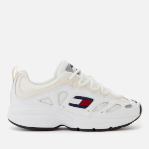 Tommy Jeans Women's Retro Chunky Runner Style Trainers - White
