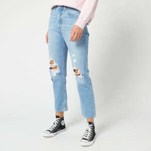 Levi's Women's 501 Crop Distressed Jeans - Montgomery Patched