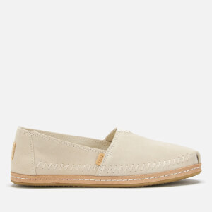 TOMS Women's Suede/Leather Alpargata Espadrilles - Natural Birch