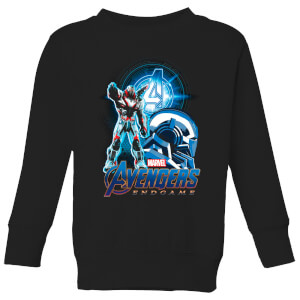 Avengers: Endgame War Machine Suit Kids' Sweatshirt - Schwarz