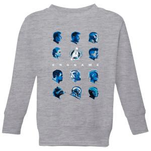 Sweat-shirt Avengers: Endgame Heads - Enfant - Gris
