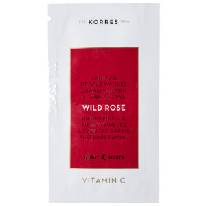 KORRES Natural Wild Rose Vitamin C Sleeping Facial 1.5ml Sachet (Free Gift)