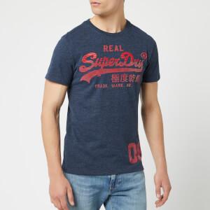 cdbd1ef9 Superdry Men's Vintage Logo T-Shirt - Montana Blue Grit