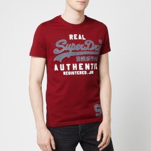 Superdry Men's Vintage Authentic Duo T-Shirt - Red Hook Grit