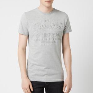Superdry Men's Premium Goods Embossed T-Shirt - Grey Marl