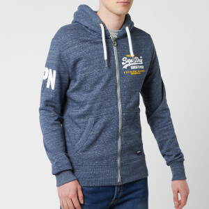 Superdry Men's Premium Goods Duo Zip Hoody - Pacific Blue Heather
