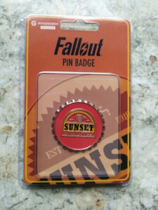 Fallout Sunset Sarsaparilla Pin Badge