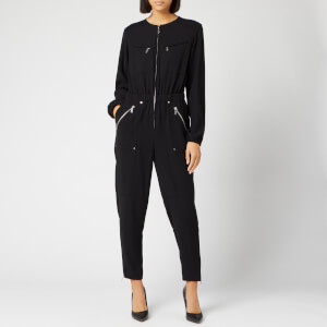 MICHAEL MICHAEL KORS Women's Sporty Zip Jumpsuit - Black