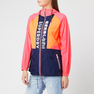 Superdry Women's Spliced Windbreaker - Pink/Orange/Navy