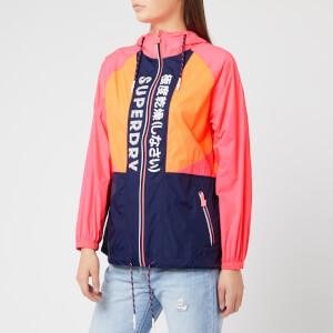 Superdry Women's Spliced Windbreaker - Pink/Orange/Navy
