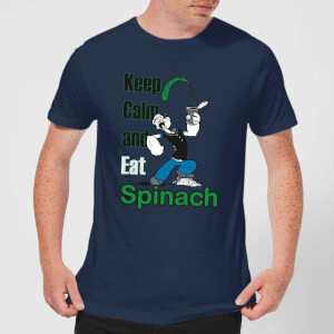 Popeye Keep Calm And Eat Spinach t-shirt - Navy