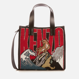 KENZO Women's Canvas Woven Tiger Wave Bag - Multi
