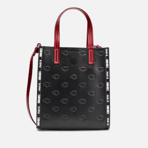 KENZO Women's Eye Allover Embossed Mini Tote Bag - Black