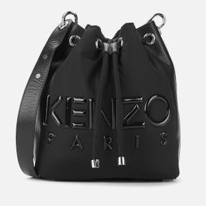 KENZO Women's Neoprene Logo Bucket Bag - Black