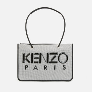 KENZO Women's Logo Tote Bag - Silver