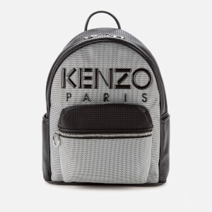 KENZO Women's Neoprene Logo Backpack - Silver