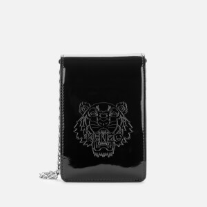 KENZO Women's Patent Tiger Cross Body Bag - Black