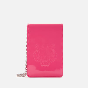 KENZO Women's Patent Tiger Cross Body Bag - Pink