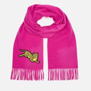 KENZO Women's Jumping Tiger Wool Scarf - Pink