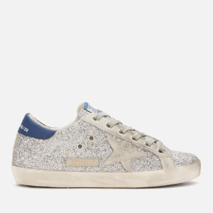 Golden Goose Deluxe Brand Women's Superstar Leather Trainers - Silver Glitter Blue/Ice Star