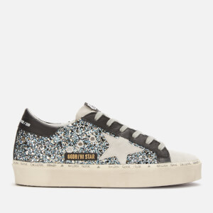 Golden Goose Deluxe Brand Women's Hi Star Leather Flatform Trainers - Blue Black Glitter/Ice Star