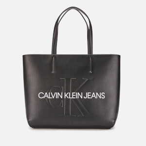 Calvin Klein Jeans Women's Monogram Tote Bag - Black