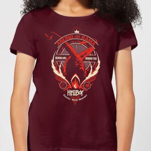 Hellboy Anung Un Rama Women's T-Shirt - Burgundy
