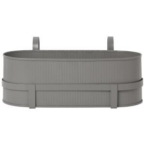 Ferm Living Bau Balcony Pot - Warm Grey