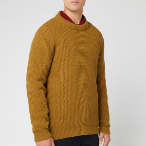 Universal Works Men's Loose Crew Knit - Mustard