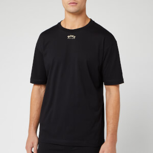 BOSS Men's Talboa 1 Large Back Logo T-Shirt - Black/Gold