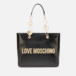 Love Moschino Women's Logo Charm Tote - Black