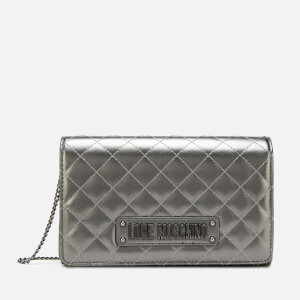 Love Moschino Women's Quilted Small Cross Body - Pewter