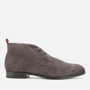 HUGO Men's Boheme Faux Fur Lined Suede Desert Boots - Grey