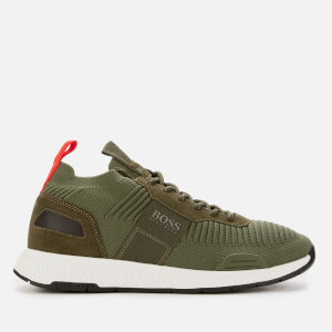 BOSS Men's Titanium Knit Running Style Trainers - Green