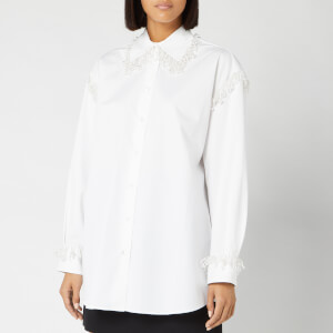 Christopher Kane Women's Pearl Cotton Poplin Shirt - White