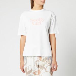 See By Chloé Women's Logo T-Shirt - White Powder