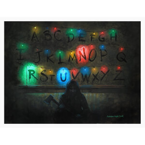 "Poster giclé Stranger Things ""Run"" Netflix"