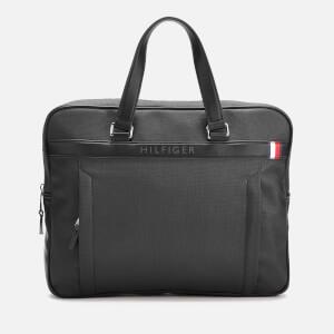 Tommy Hilfiger Men's Coated Canvas Slim Computer Bag - Black