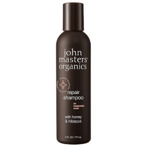 John Masters Organics Shampoo for Damaged Hair with Honey & Hibiscus 177ml