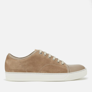 Lanvin Men's Matte Captoe Trainers - Light Beige