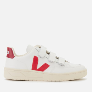Veja Women's V-Lock Leather Trainers - Extra White/Pekin/Marsala