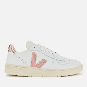 Veja Women's V-10 Leather Trainers - Extra White/Nacre